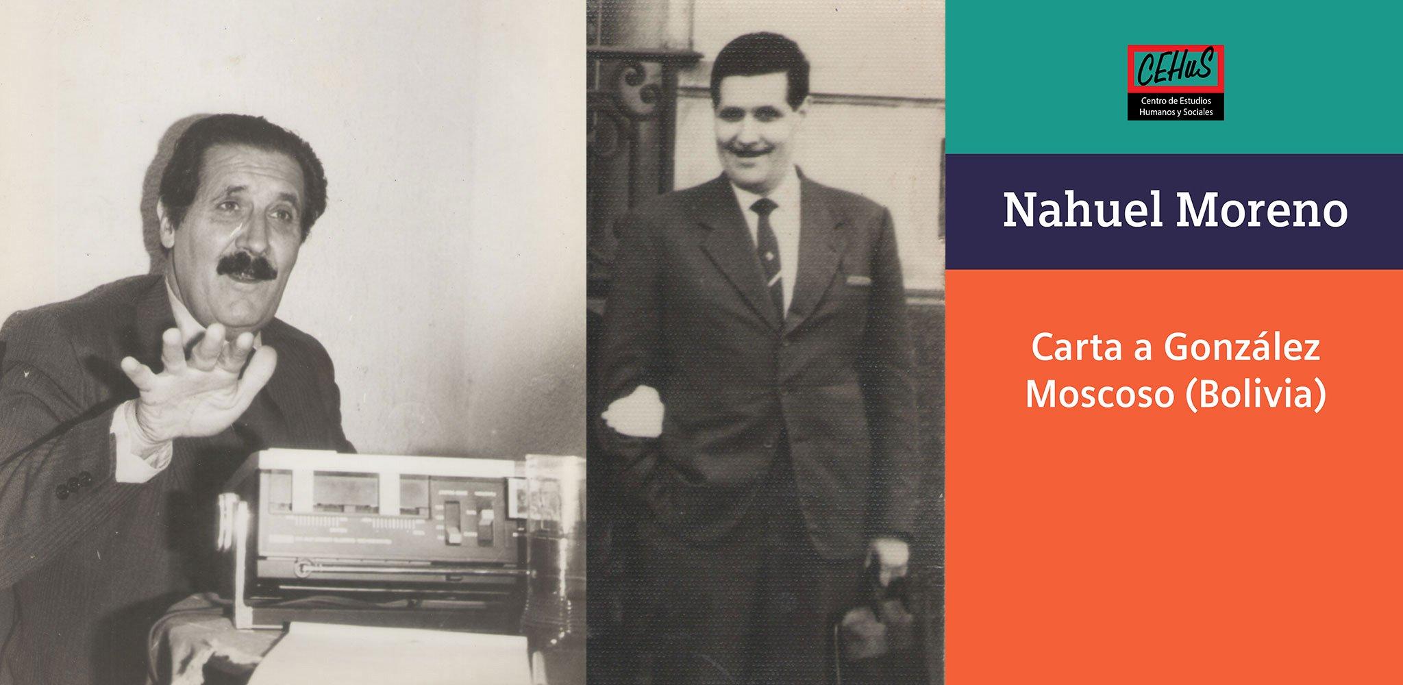 CARTA A GONZÁLEZ MOSCOSO -BOLIVIA- (1965)